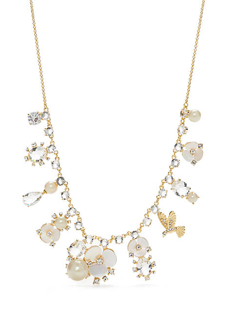 kate spade new york® Gold-Tone Disco Pansy Necklace