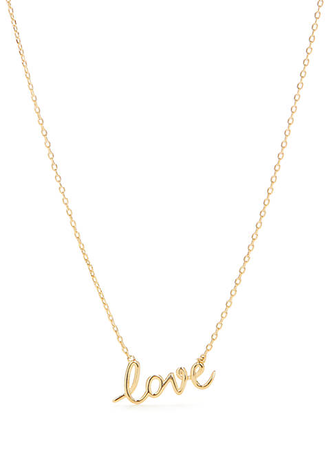 kate spade new york® Love Pendant Necklace
