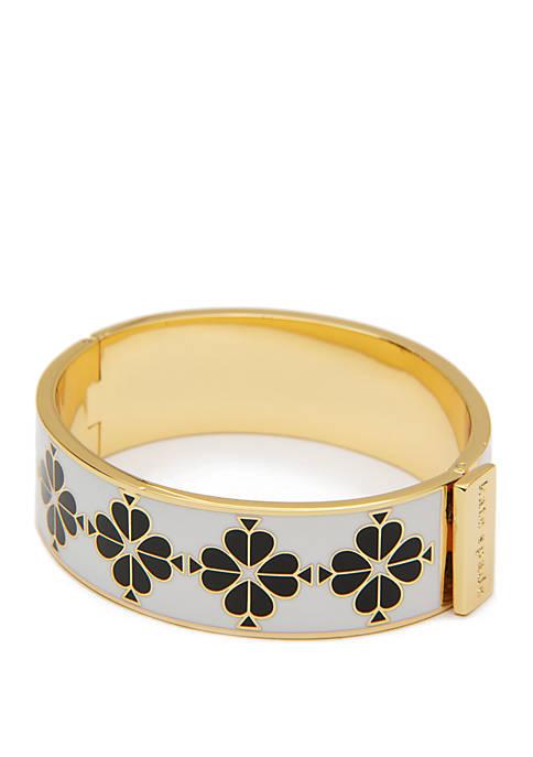 Floral Enamel Bangle Bracelet