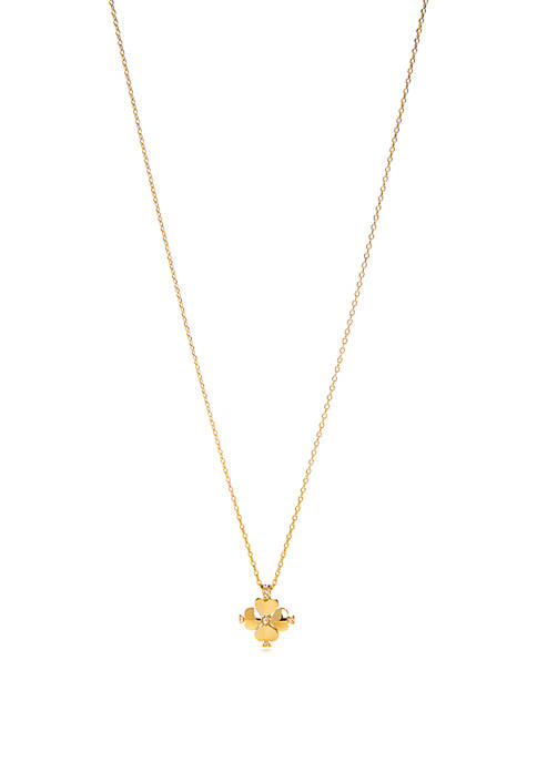 kate spade new york® Gold Tone Mini Flower