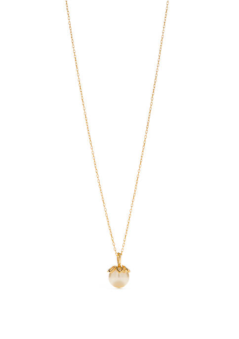 kate spade new york® Gold Tone Mini Pearl
