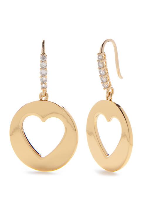 kate spade new york® Gold Tone Small Heart