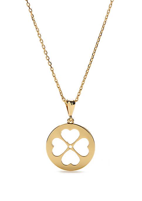 kate spade new york® Floral Mini Pendant Necklace