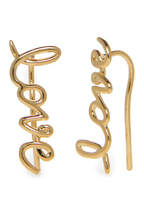kate spade new york® Love Earrings