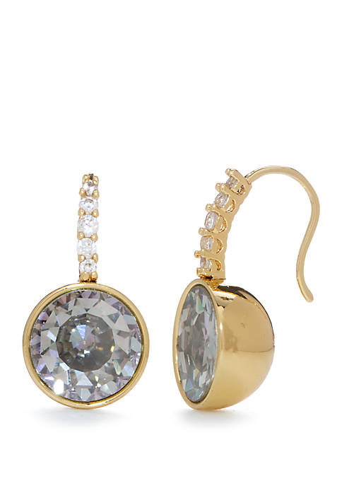 kate spade new york® Pave Round Drop Earrings