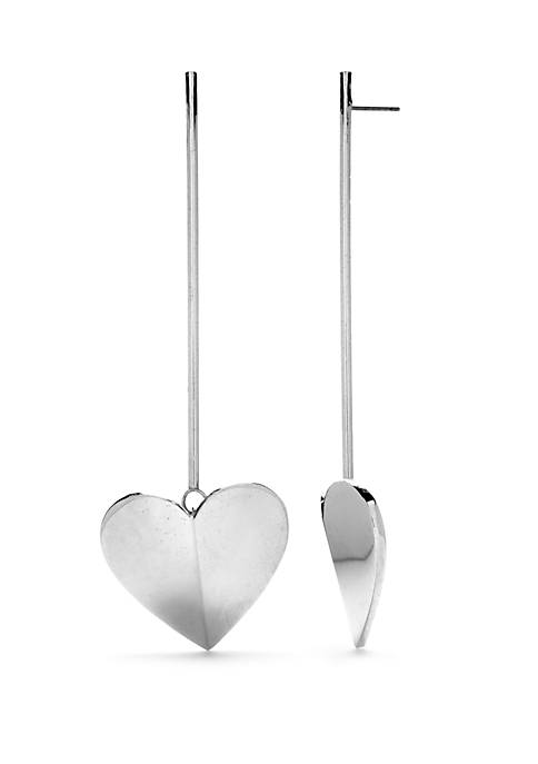 kate spade new york® Linear Heart Earrings