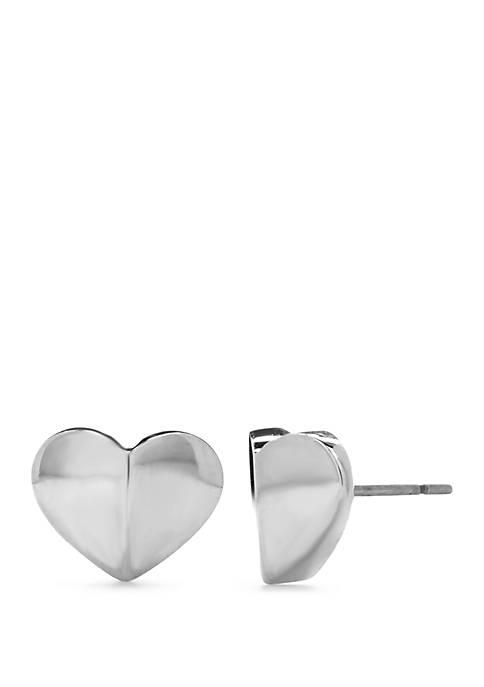 Small Heart Stud Earrings