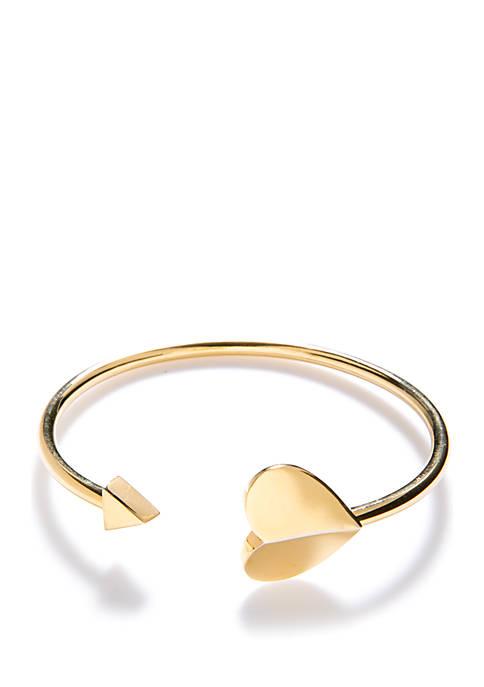 kate spade new york® Gold Tone Flex Cuff