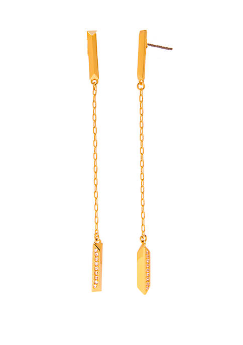 kate spade new york® Pave Linear Earrings
