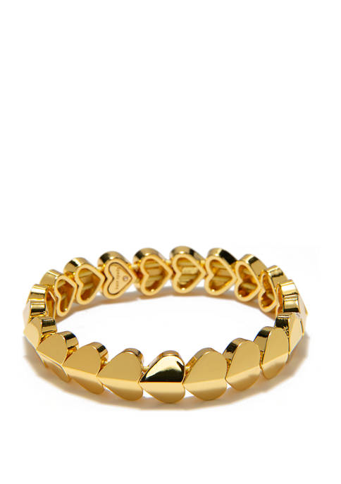 kate spade new york® Gold Tone Heart Stretch
