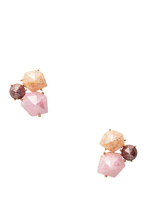 kate spade new york® Floral Facets Cluster Stud