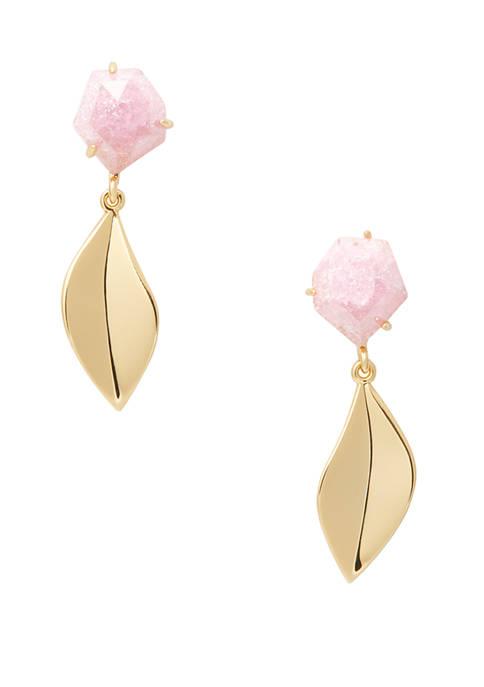 kate spade new york® Floral Facet Drop Earrings