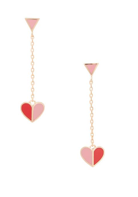 kate spade new york® Enamel Heart Drop Earrings