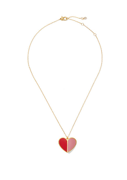 kate spade new york® Enamel Heart Pendant Necklace