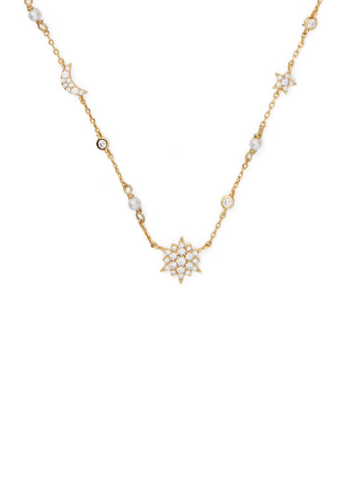 kate spade new york® Gold Tone Scatter Necklace