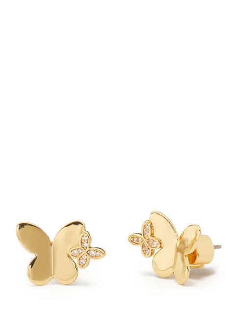 kate spade new york® Gold Tone Flutter Stud