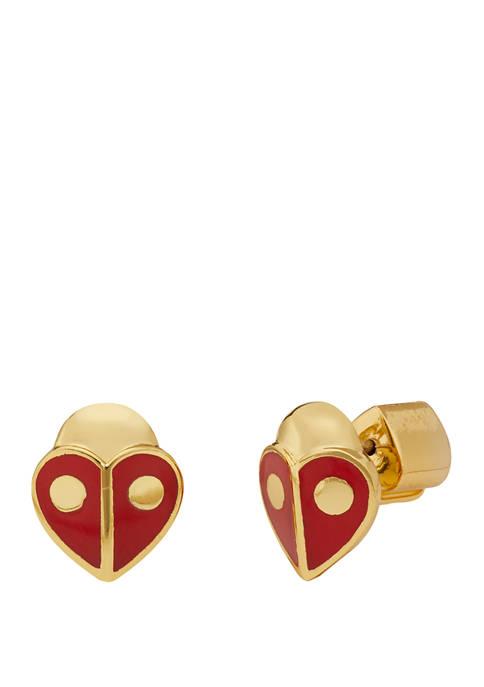 Animal Party Ladybug Stud Earrings