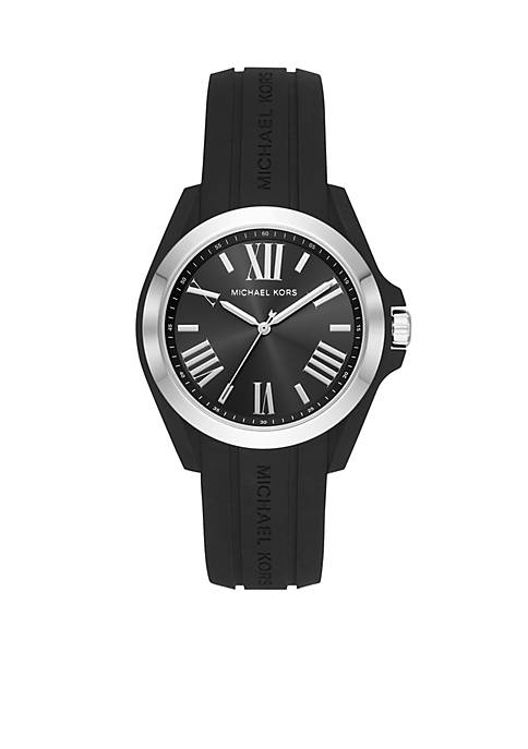 Michael Kors Black Silicone Bradshaw Watch
