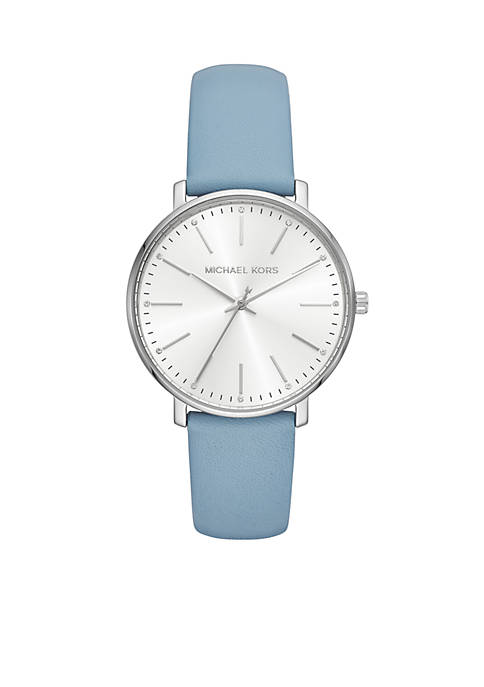 Michael Kors Womens Stainless Steel Pyper Pale Blue
