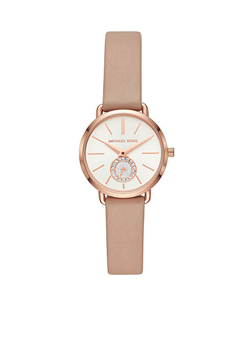 Michael Kors Rose Gold-Tone Stainless Steel Petite Portia