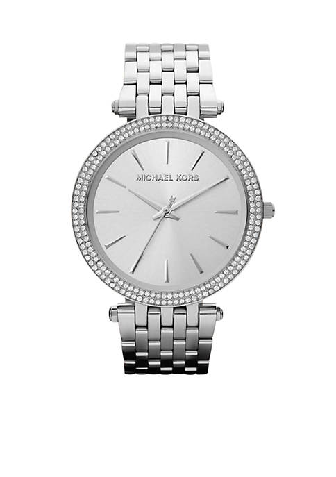Michael Kors Mid-Size Silver-Tone Stainless Steel Darci