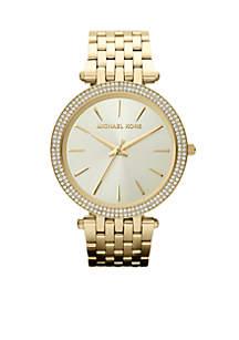 Mid-Size Gold-Tone Stainless Steel Darci Three-Hand Glitz Watch