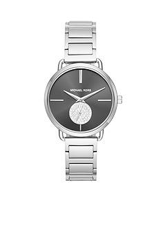 Michael Kors Portia Stainless-Steel Two-Hand Sub-Eye Watch
