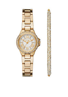 Michael Kors Petite Camille Gold-Tone Three-Hand Watch and Bracelet Gift Set