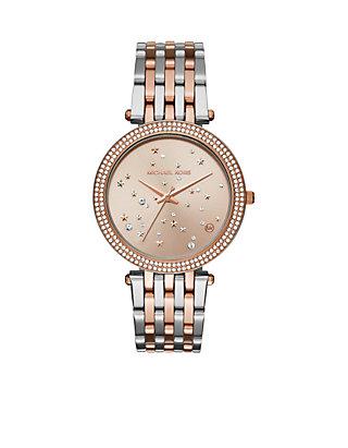 d227d7648046 Michael Kors Womens Two-Tone Celestial Darci Watch ...