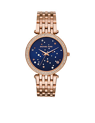 4306f8aed1b8 Michael Kors Women s Rose Gold-Tone Celestial Darci Watch