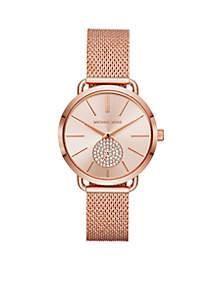 Women's Rose Gold-Tone Portia Mesh Watch