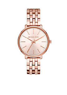 Pyper Three-Hand Rose Gold-Tone Stainless Steel Watch