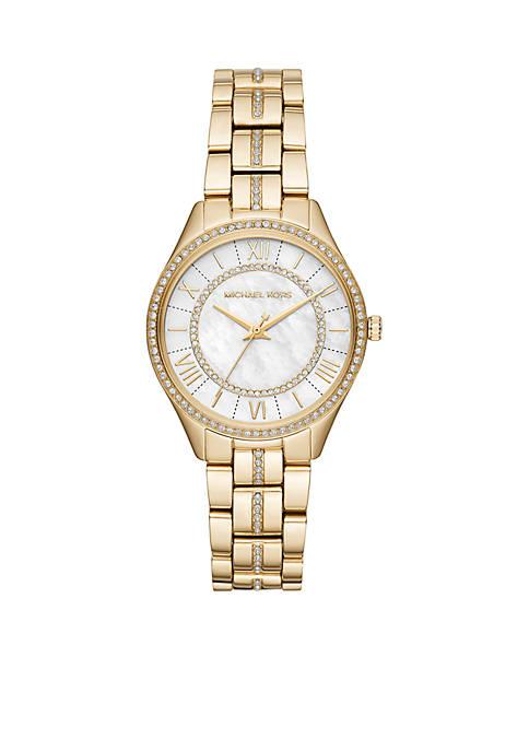 Michael Kors Gold-Tone Mini Lauryn Watch