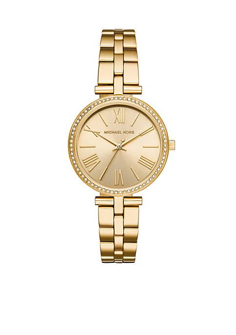 Michael Kors Maci Three-Hand Gold-Tone Stainless Steel Watch