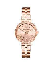 Maci Three-Hand Rose Gold-Tone Stainless Steel Watch