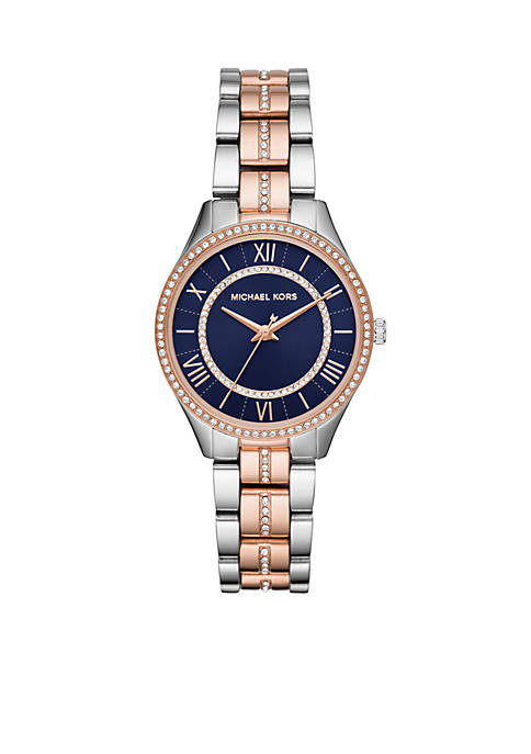 Michael Kors Lauryn Three-Hand Two-Tone Stainless Steel Watch