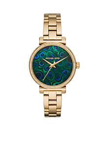 Sofie Three-Hand Gold-Tone Stainless Steel Watch