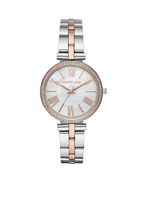 Michael Kors Maci Three-Hand Two-Tone Stainless Steel Watch