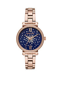 Rose Gold-Tone Stainless Steel Sofie Two-HandWatch