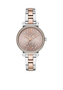 Sofie Three-Hand Two-Tone Stainless Steel Watch