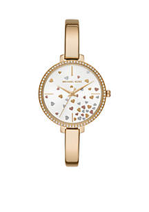 Jaryn Three-Hand Gold-Tone Stainless Steel Watch