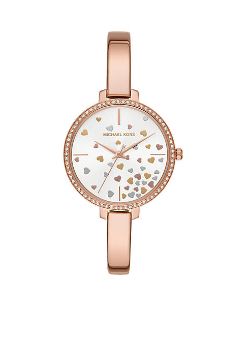 Michael Kors Jaryn Three-Hand Rose Gold-Tone Stainless Steel