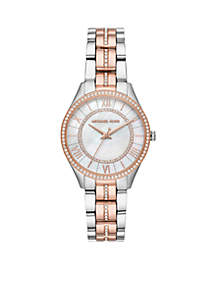 Lauryn Three-Hand Two-Tone Stainless Steel Watch