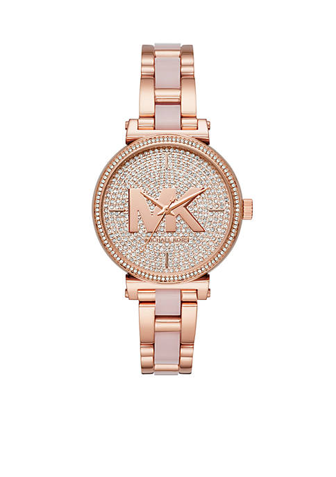 Michael Kors Sofie Three-Hand Rose Gold-Tone Stainless Steel