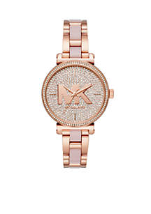 Sofie Three-Hand Rose Gold-Tone Stainless Steel Watch