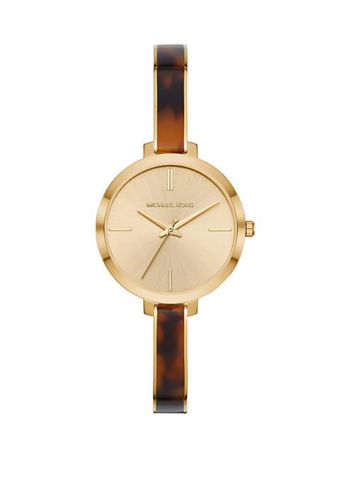 Jaryn  3 Hand Gold Tone Stainless Steel Watch