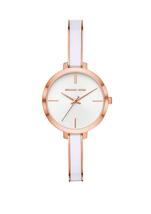 Jaryn 3 Hand Rose Gold Tone Stainless Steel Watch