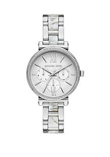 Michael Kors Sofie Multifunction Two Tone Stainless Steel Watch