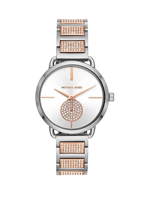 Michael Kors Portia 2 Tone Stainless Steel Bracelet