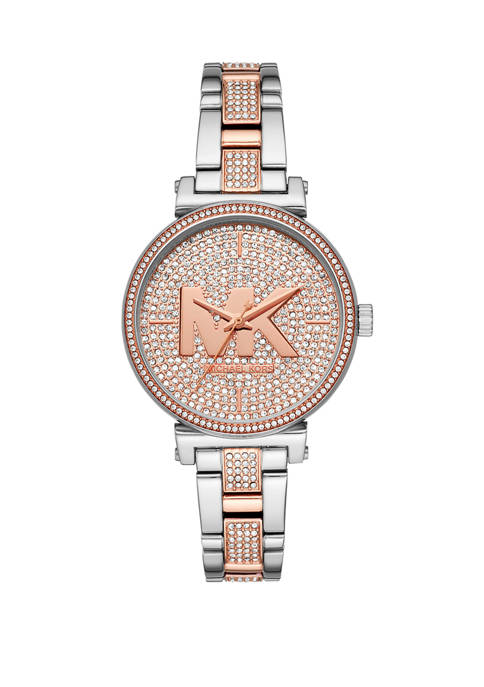 Michael Kors Sofie Three-Hand Two-Tone Stainless Steel Watch